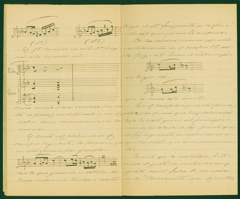 Carta a José Quirel en 1905, donde analiza algunas de sus obras