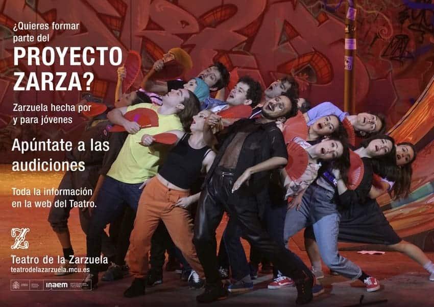 El Teatro de la Zarzuela abre la convocatoria para participar en el Proyecto Zarza 2022