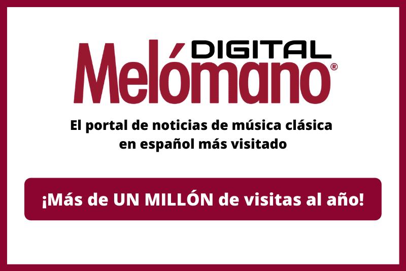 la revista de noticias de música clásica Melómano Digital alcanza un millón de visitas en menos de un año