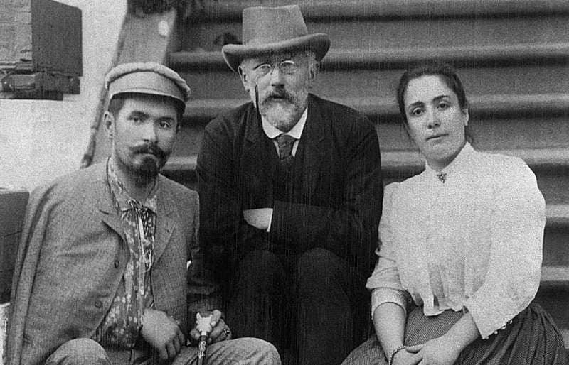 Piotr Chaikovski con el matrimonio Figner