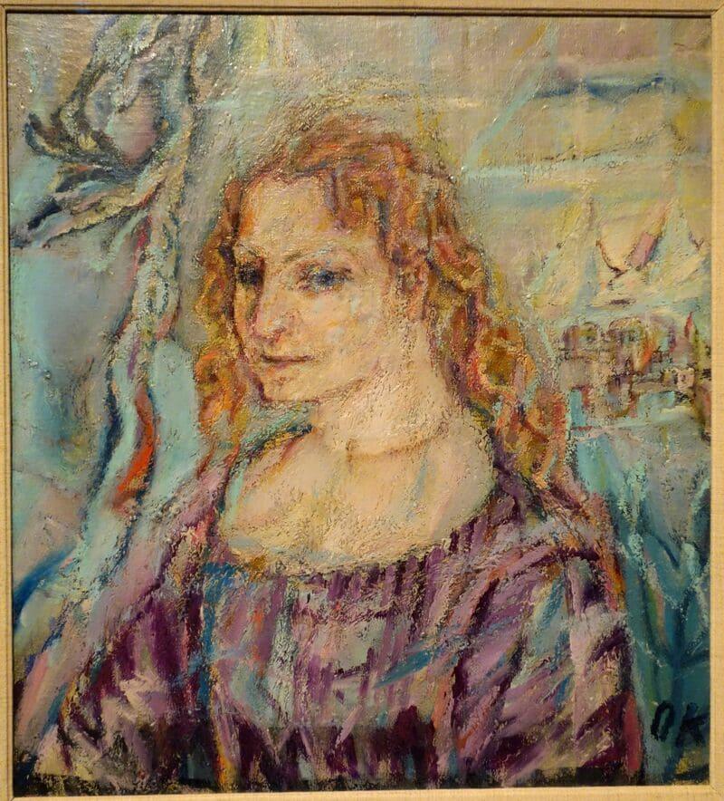Retrato de Alma Mahler realizado por Oskar Kokoschka en 1912.