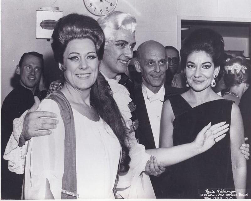 FrancoCorelli junto a Renata Tebaldi y Maria Callas