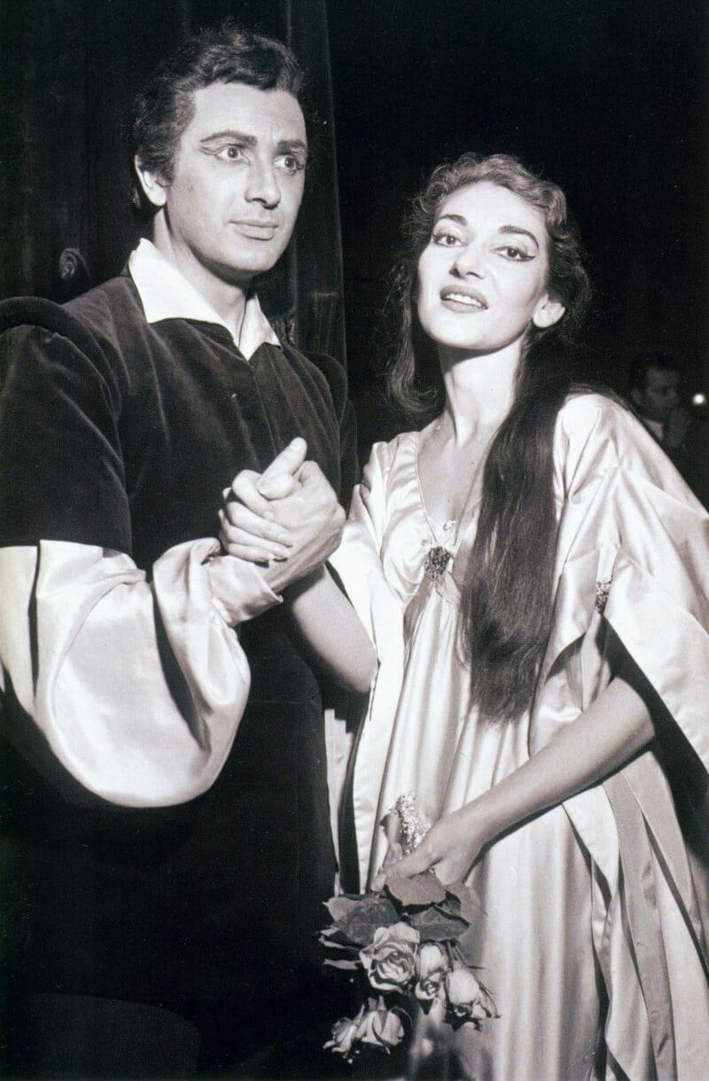 Franco Corelli y Maria Callas en Il pirata