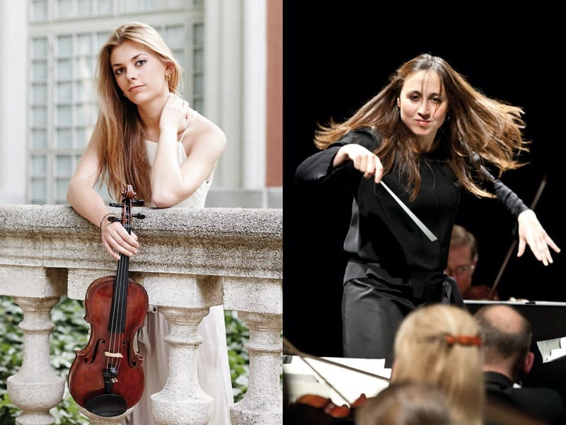 Joana Carneiro y Roxana Wisniewska ante la OSCyL