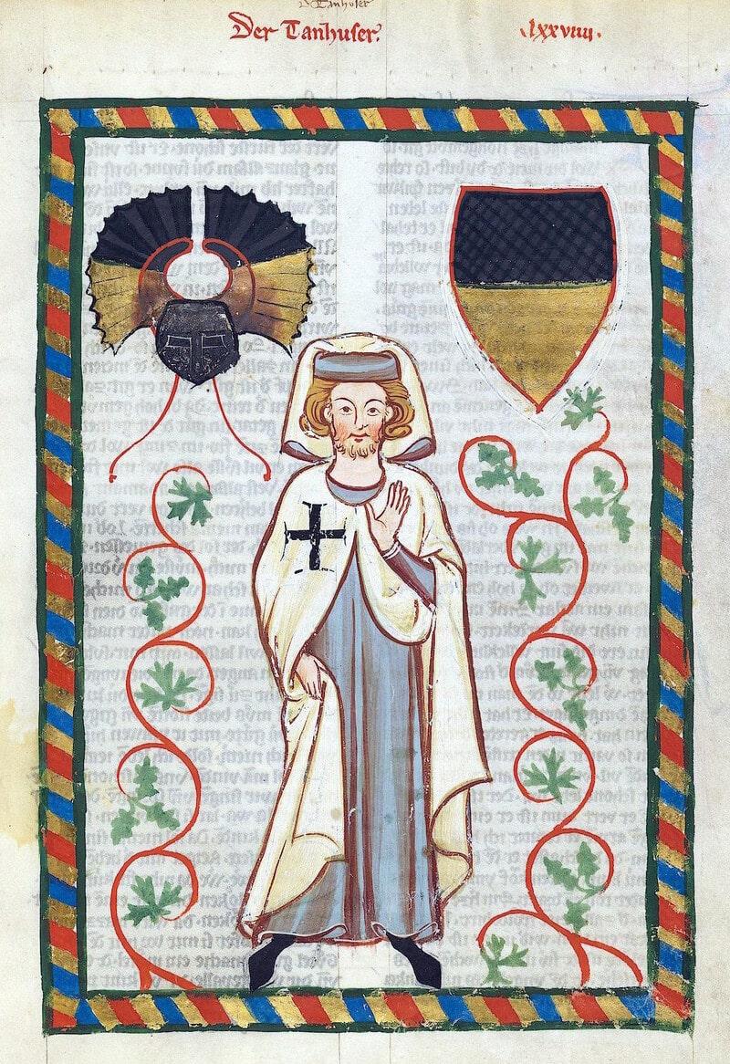 Tannhäuser representado en el Codex Manesse