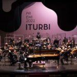 Salome Jordania, Ryutaro Suzuki y Alexey Sychev, en la Gran Final del Premio Iturbi