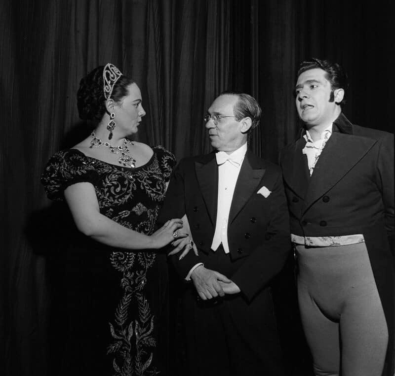 Renata Tebaldi, Antonio Votto y Giuseppe Di Stefano (Tosca, 1974)
