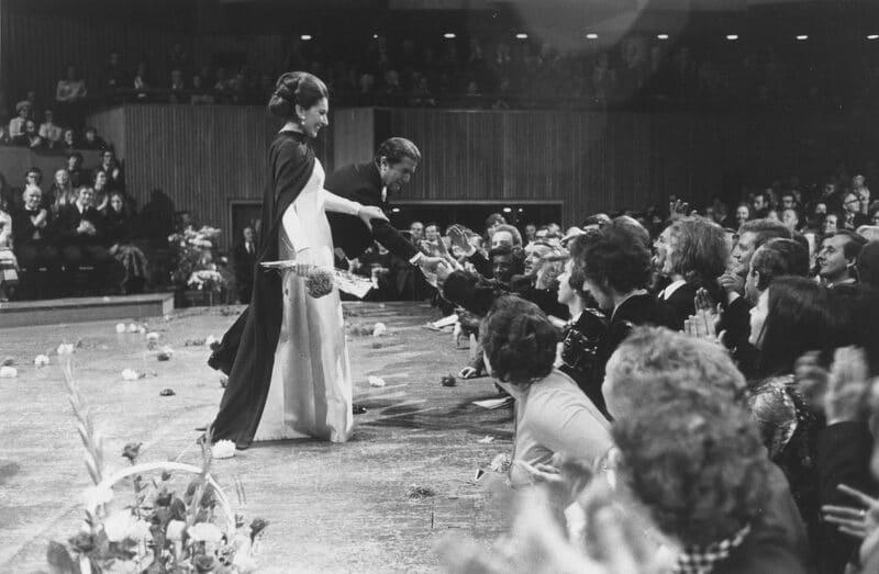 Maria Callas y Giuseppe Di Stefano (Festival Hall, Londres, 1973)