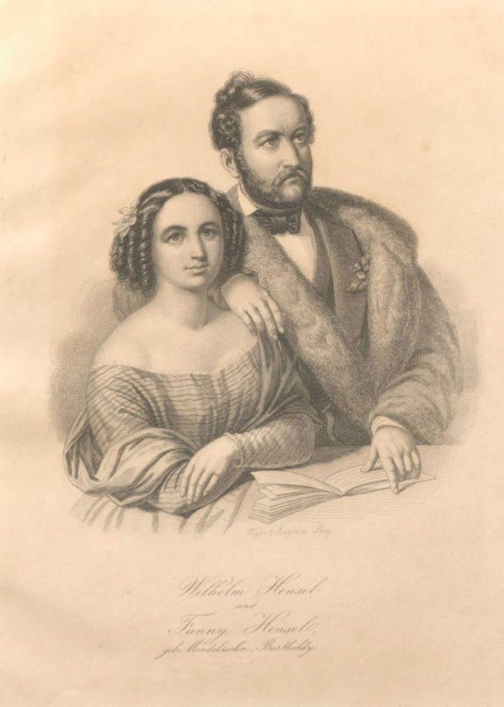 Retrato de Fanny y Wilhelm Hensel, del álbum 'The Mendelssohn family' © Library of Congress, Gertrude Clarke Whittall Foundation