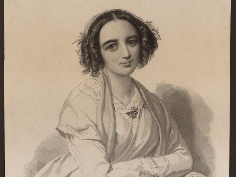 Dibujo de Fanny Mendelssohn realizado por su marido, Wilhelm Hensel © Library of Congress, Gertrude Clarke Whittall Foundation