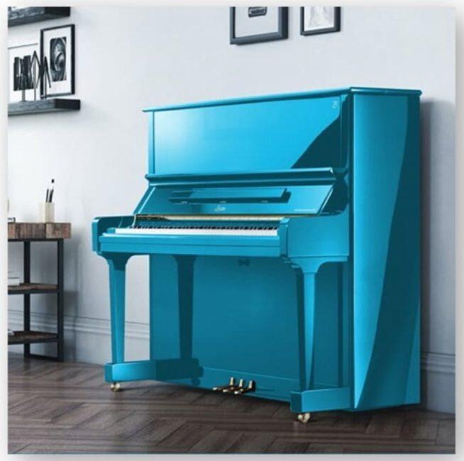 Piano azul celeste Hinves Pianos