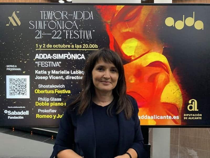 Julia Parra durante la presentación de 'Festiva'